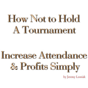 e-Book and Course - How Not to Hold a Tournament