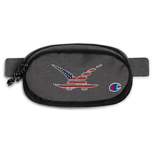 wK Distressed American Flag Champion Fanny Pack - Available Until 12/31/2020