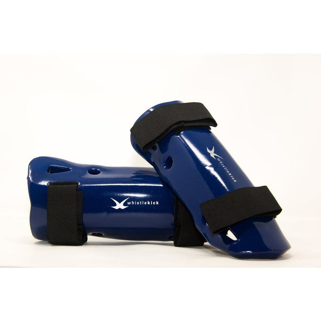 whistlekick Sparring Shin Guards - Small / Arctic (Blue)