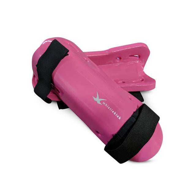 whistlekick Sparring Shin Guards - Small / Coral (Pink)
