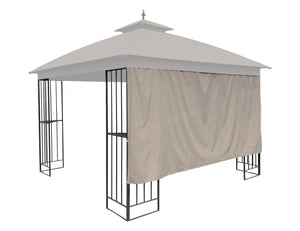 "10' Privacy Panel Curtain Wall for 10' or 12' Gazebo 119""W x 57""H-Beige with Velcro Loops - APEX GARDEN"