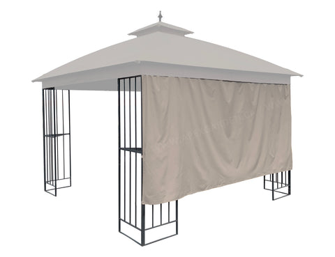"10' Privacy Panel Curtain Wall for 10' or 12' Gazebo 119""W x 57""H-Tan with Velcro Loops - APEX GARDEN"