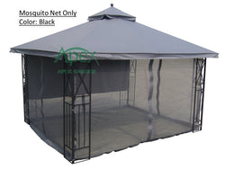 Replacement Mosquito Netting for 10'X12' Gazebo -- Black - APEX GARDEN