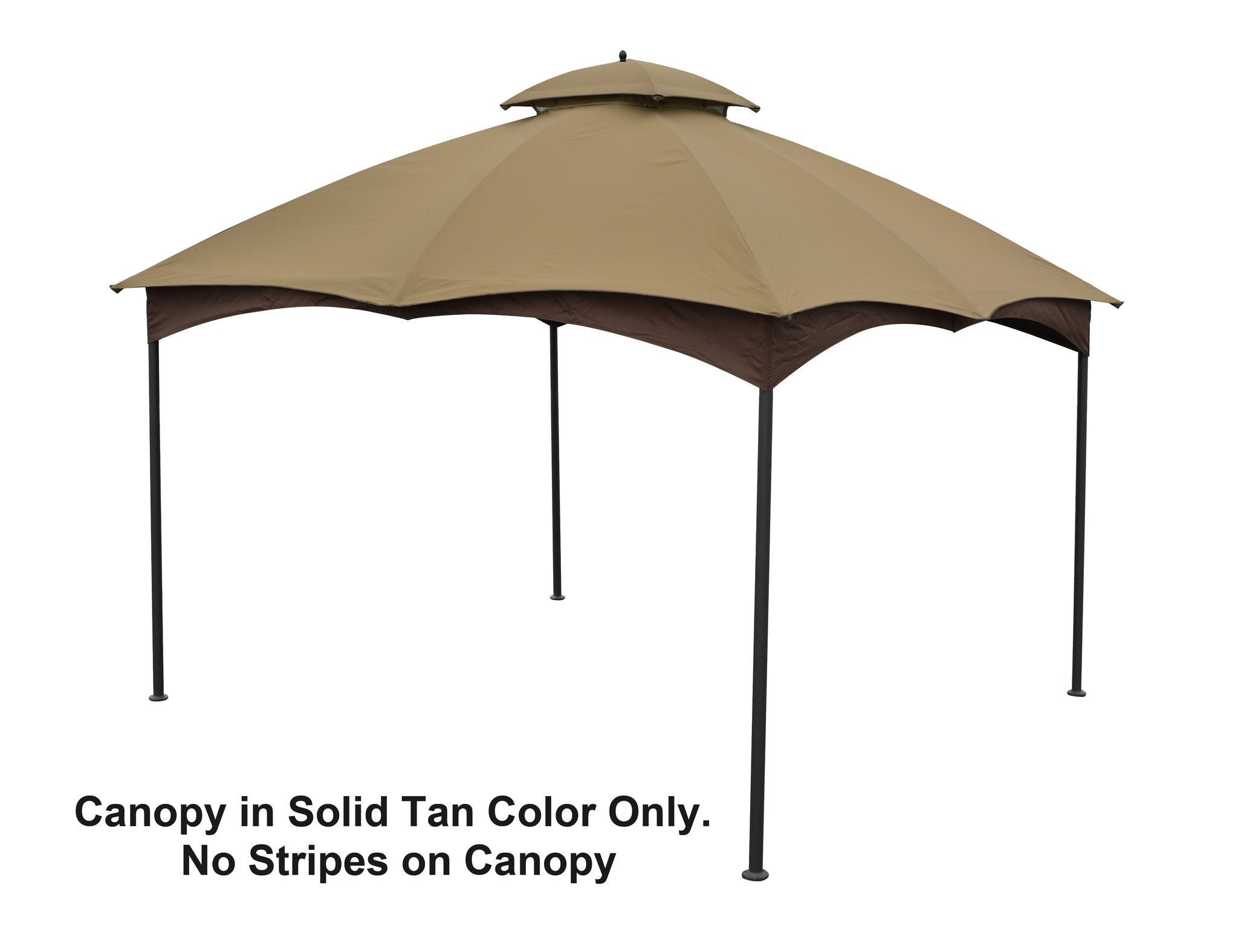 APEX GARDEN Replacement Canopy Top Massillon 10' x 12' Gazebo Model #L-GZ933PST (Tan) - APEX GARDEN