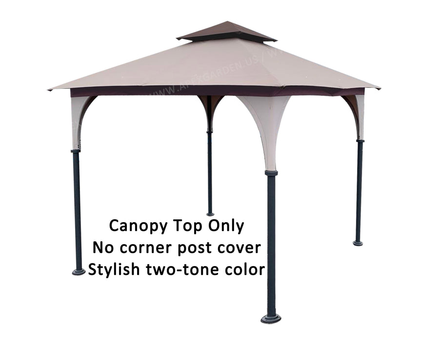 Replacement Canopy Top for Andrews/Manilla 8 ft. x 8 ft. Soft Top Gazebo Model# L-GZ375PST (Fabric Top Only) - APEX GARDEN