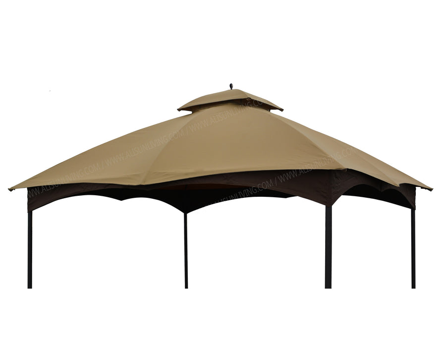 APEX GARDEN Replacement Canopy Top Massillon / Turnberry 10' x 12' Gazebo Model #L-GZ933PST / #L-GZ933PCO-L(TAN) - APEX GARDEN