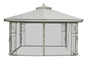 Replacement Mosquito Netting for 10'X12' Gazebo -- Grey - APEX GARDEN