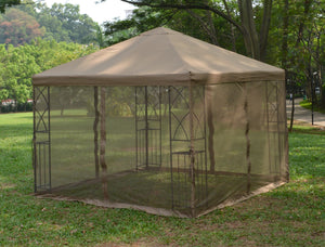 Replacement Mosquito Netting for 10'X10' Gazebo -- Tan - APEX GARDEN