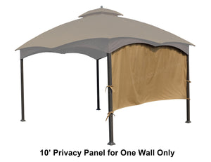 "10' Privacy Panel Curtain Wall for 10' or 12' Gazebo 119""W x 57""H - APEX GARDEN"