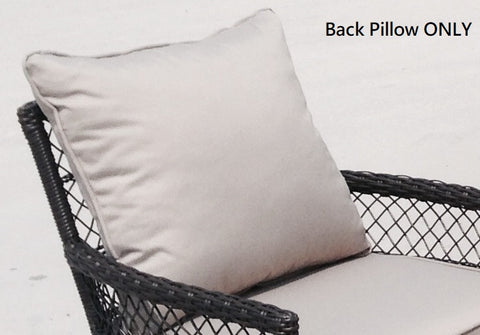 "Grey Back Pillows for Outdoor Furniture 21""X21"" - APEX GARDEN"