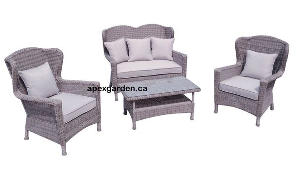 Grey Seat Cushions for CP-1611 Conversation Set - APEX GARDEN