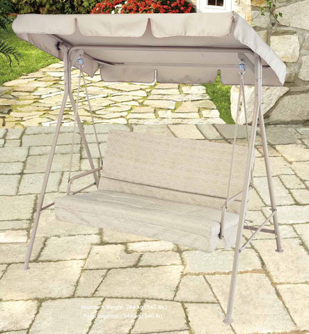 "2 Seater Swing Replacement Canopy Top 60""X39"" - APEX GARDEN"