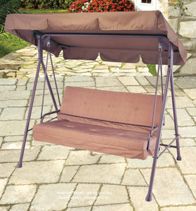 "3 Seater Swing Replacement Canopy Top 69""X45"" - APEX GARDEN"