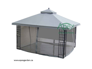 Replacement Canopy Top for YH-1086S-G 10'x12' Gazebo(NO OVERHANG) - APEX GARDEN