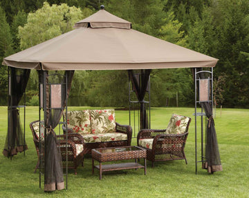 Replacement Canopy Top for YH-1102 10'x10' Gazebo(NO Outer Overhang) - APEX GARDEN
