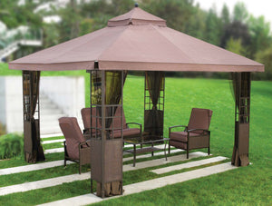 Replacement Canopy Top for YH-1103 10'x12' Tea Glass Gazebo(NO OVERHANG) - APEX GARDEN