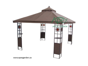 Replacement Canopy Top for YH-1212 10'x12' Gazebo(NO OVERHANG) - APEX GARDEN