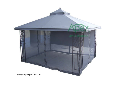 Replacement Canopy Top for YH-12601S-L 10'x12' Gazebo(NO OVERHANG) - APEX GARDEN