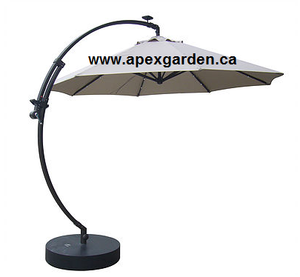 Replacement Canopy Top for YH-12605 11'Solar Offset Umbrella - APEX GARDEN