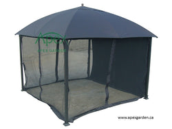 Replacement Mosquito Netting for 10'x10' Gazebo -- Black - APEX GARDEN