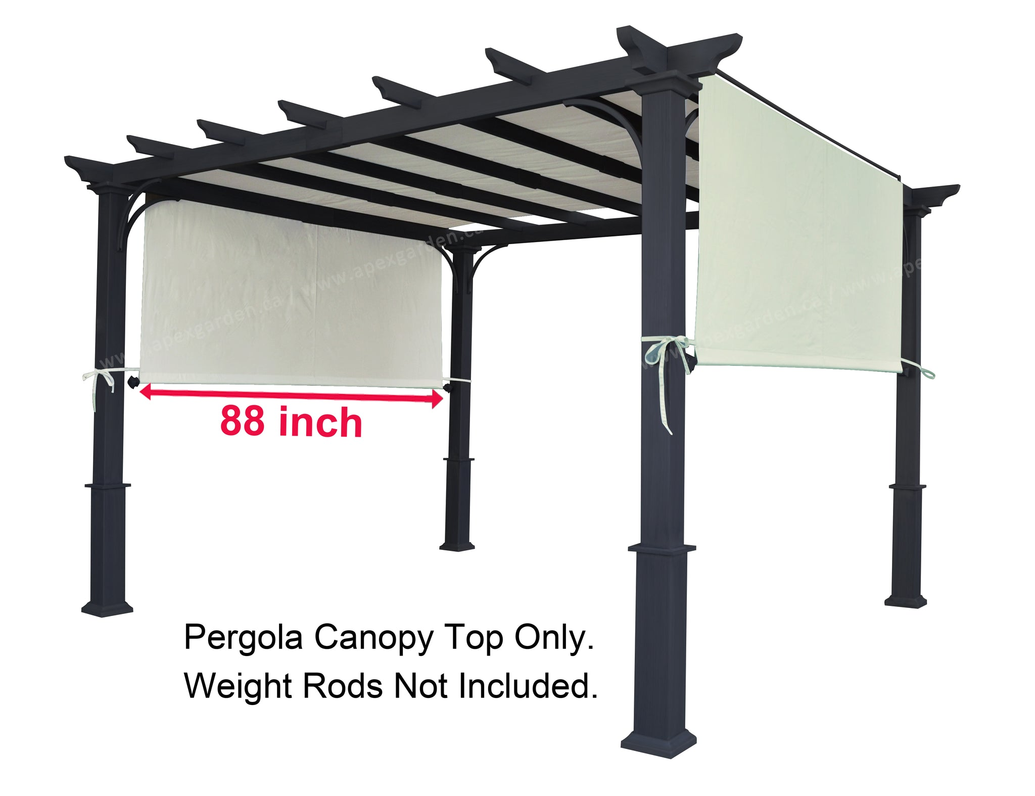 "APEX GARDEN Replacement Canopy Top for  YH-1515S Pergola Sunshade 88""X194"" - APEX GARDEN"