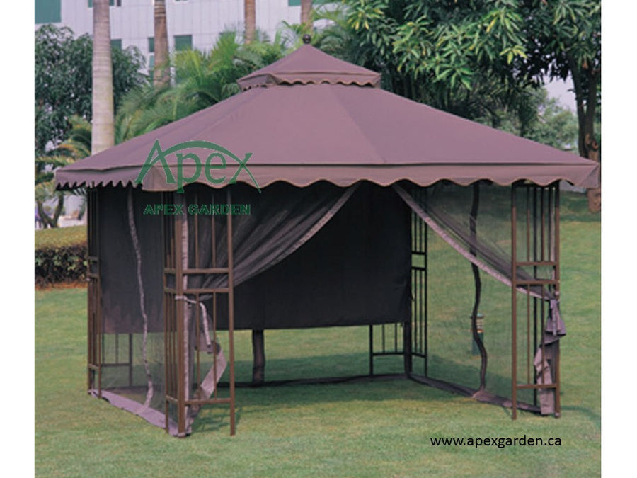 Replacement Canopy Top for YH-6011-2/ YH-6011-3 10'x10' Gazebo(NO Outer Overhang) - APEX GARDEN