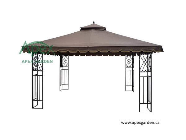 Replacement Canopy Top for YH-6012D 10'x12' Gazebo(NO OVERHANG) - APEX GARDEN