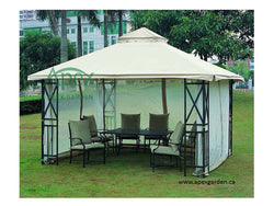 Replacement Mosquito Netting for 10'X12' Gazebo -- Beige - APEX GARDEN