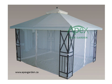 Replacement Canopy Top for YH-7050S 10'x12' Gazebo(NO OVERHANG) - APEX GARDEN