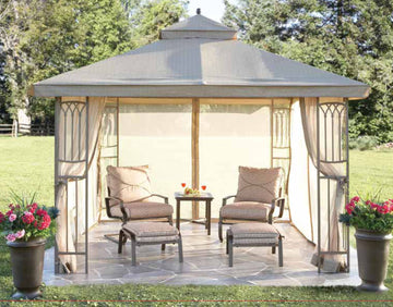 Replacement Canopy Top for YH-8011S 10'x10' Gazebo(NO Outer Overhang) - APEX GARDEN