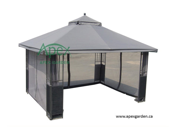 Replacement Canopy Top for YH-8065 10'x12' Gazebo(NO OVERHANG) - APEX GARDEN