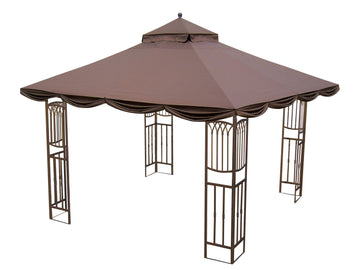 Replacement Canopy Top for YH-9066S/ YH-8066S 10'x10' Gazebo(NO Outer Overhang) - APEX GARDEN