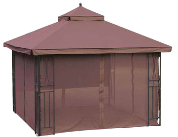 Replacement Canopy Top for YH-9910 10'x10' Gazebo(NO Outer Overhang) - APEX GARDEN