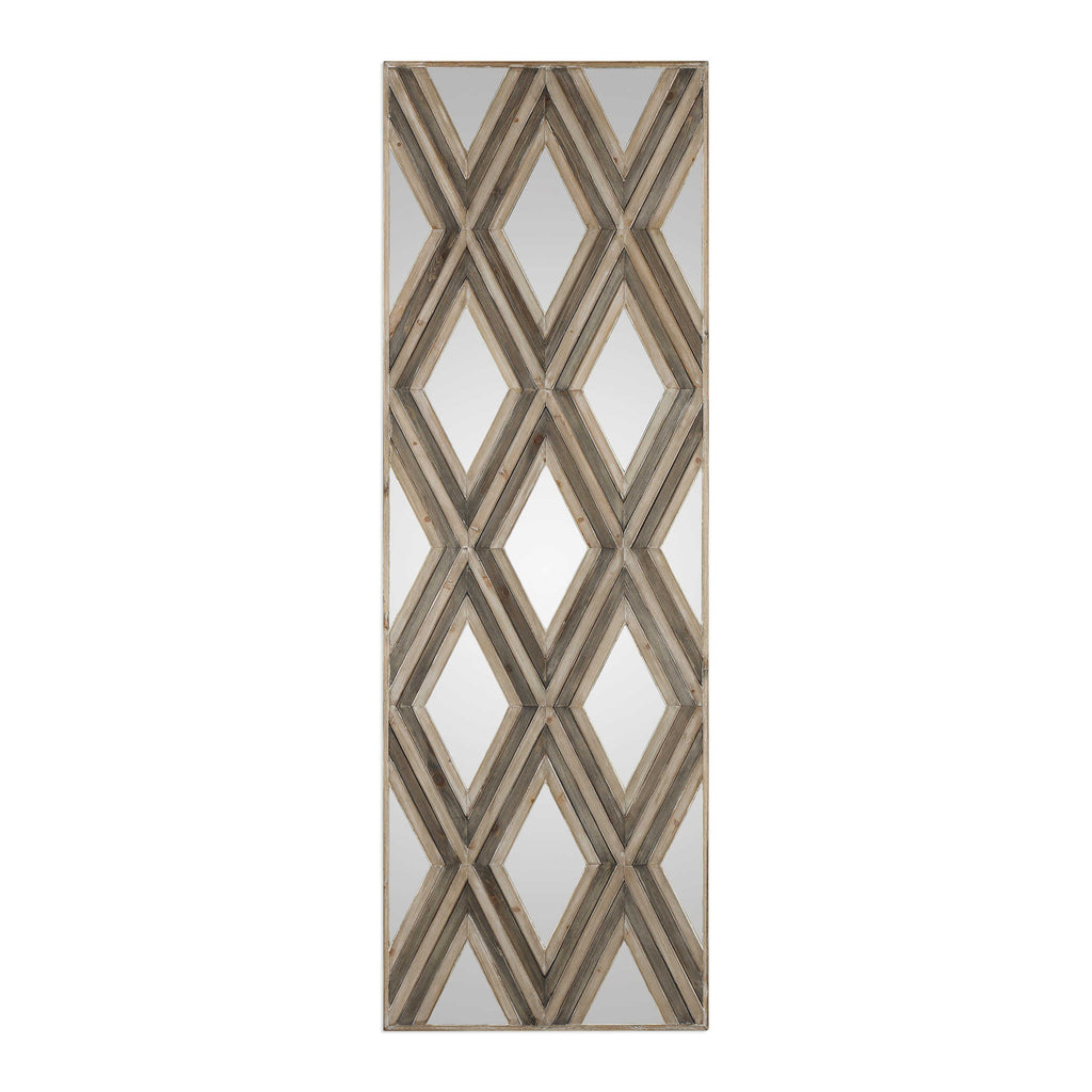 TAHIRA GEOMETRIC AGRYLE PATTERN WALL MIRROR - Donna's Home Furnishings in Houston