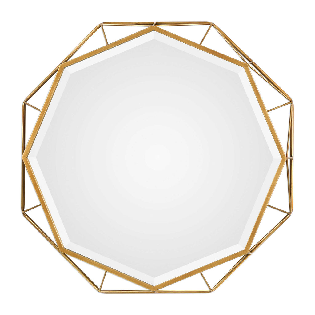 OCTAGONAL MIRROR - Donna's Home Furnishings in Houston