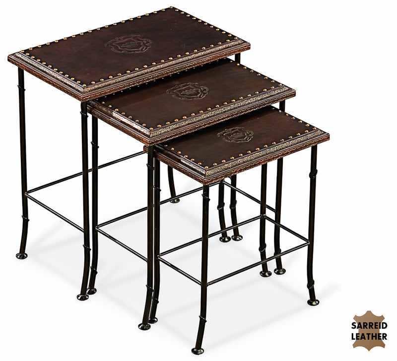 NOBLE NESTING TABLES, SET OF 3 - Donna's Home Furnishings in Houston