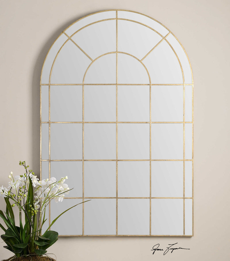 ARCHED WINDOW PANED MIRROR - Donna's Home Furnishings in Houston