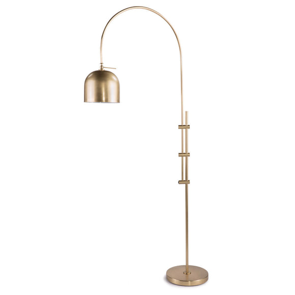 ARC BRASS FLOOR LAMP - Donna's Home Furnishings in Houston