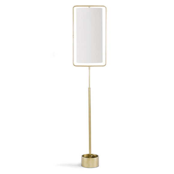 GEO BRASS FLOOR LAMP - Donna's Home Furnishings in Houston