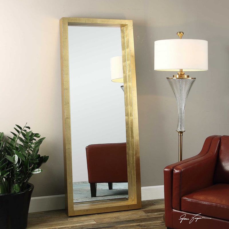 OVER-SIZED GOLD MIRROR 28X76