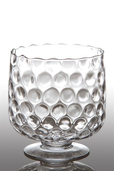 MEDIUM GLASS HURRICANE - Donna's Home Furnishings in Houston