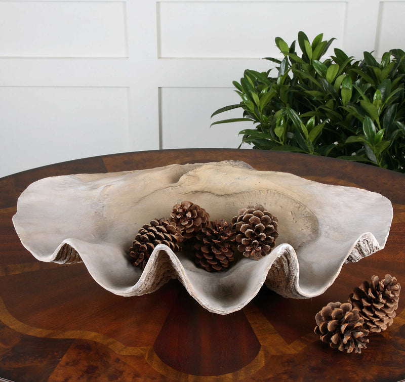 CLAM SHELL BOWL - Donna's Home Furnishings in Houston