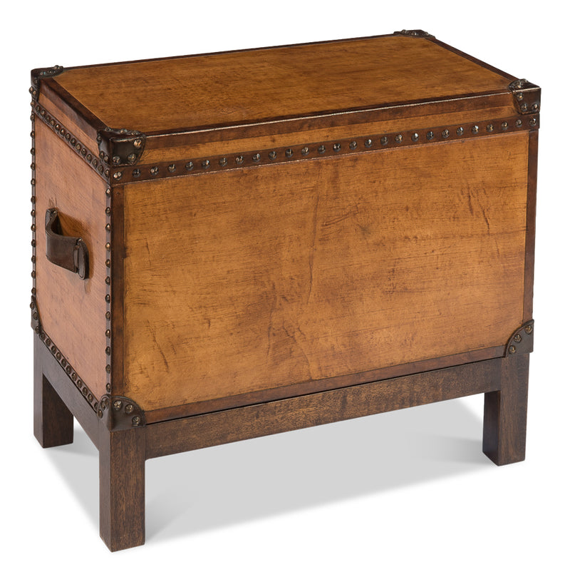 LEATHER BOX W/ STAND - Donna's Home Furnishings in Houston