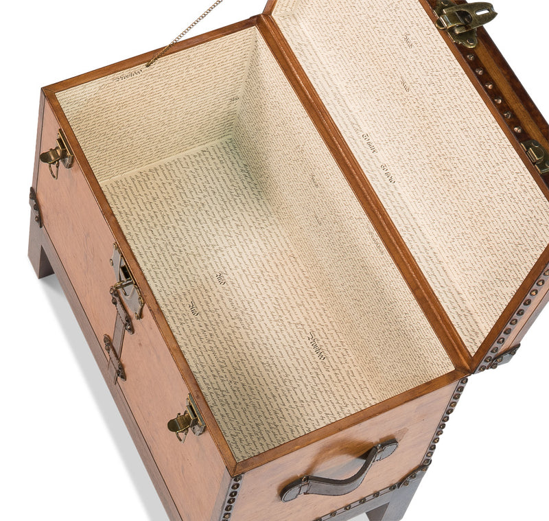 ABILENE LEATHER BOX W/ STAND - Donna's Home Furnishings in Houston