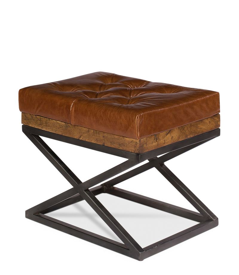 Leather Cushion Bench - Donna's Home Furnishings in Houston