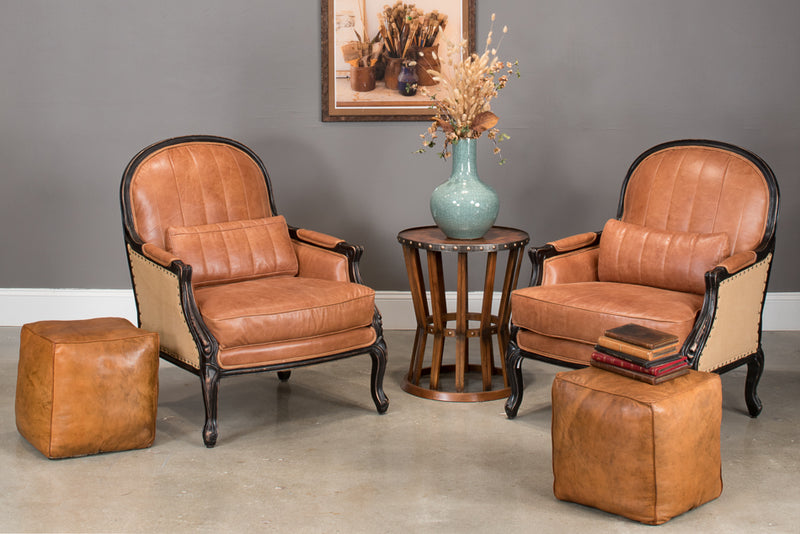 SUNDAY AFTERNOON LEATHER CUBE - Donna's Home Furnishings in Houston
