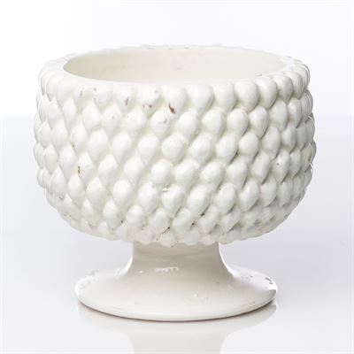 WHITE DOT PLANTER - Donna's Home Furnishings in Houston
