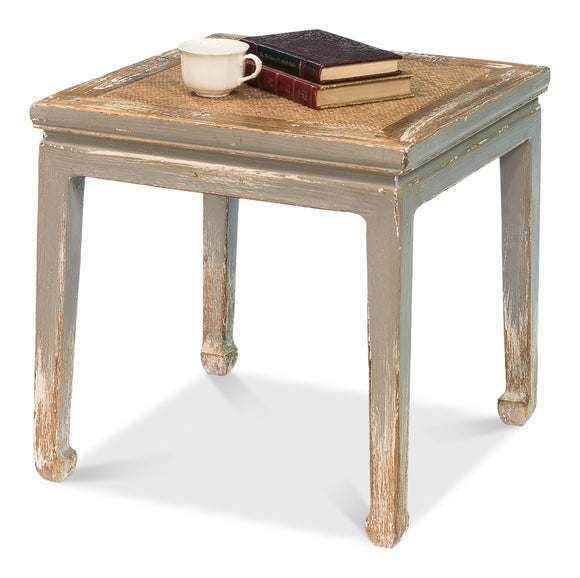 SQUARE TABLE/STOOL WITH RATTAN - Donna's Home Furnishings in Houston