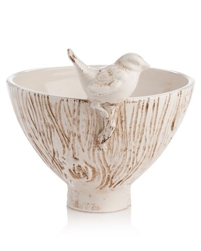 BOWL WITH BIRD - Donna's Home Furnishings in Houston