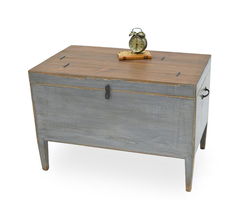 Trunk Side Table W/ Secret Storage - Donna's Home Furnishings in Houston